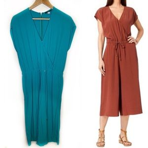 Eileen Fisher teal jumpsuit size small NWT